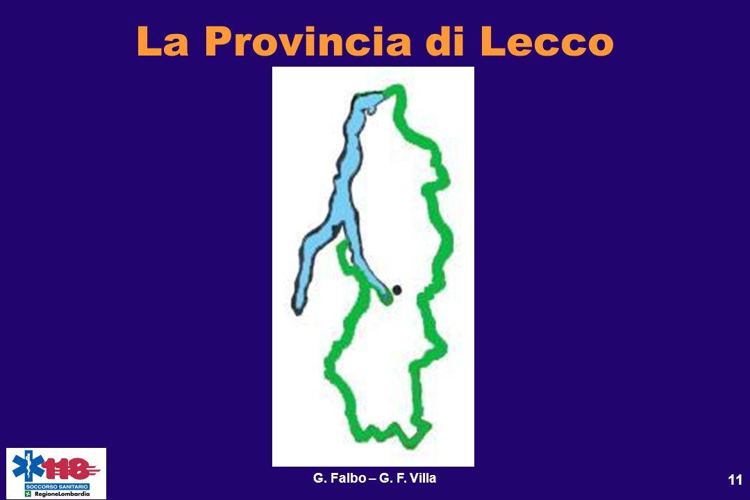 G. Falbo – G. F. Villa 11 La Provincia di Lecco