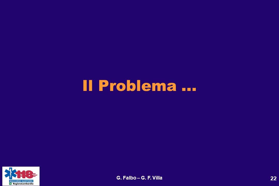 G. Falbo – G. F. Villa 22 Il Problema...