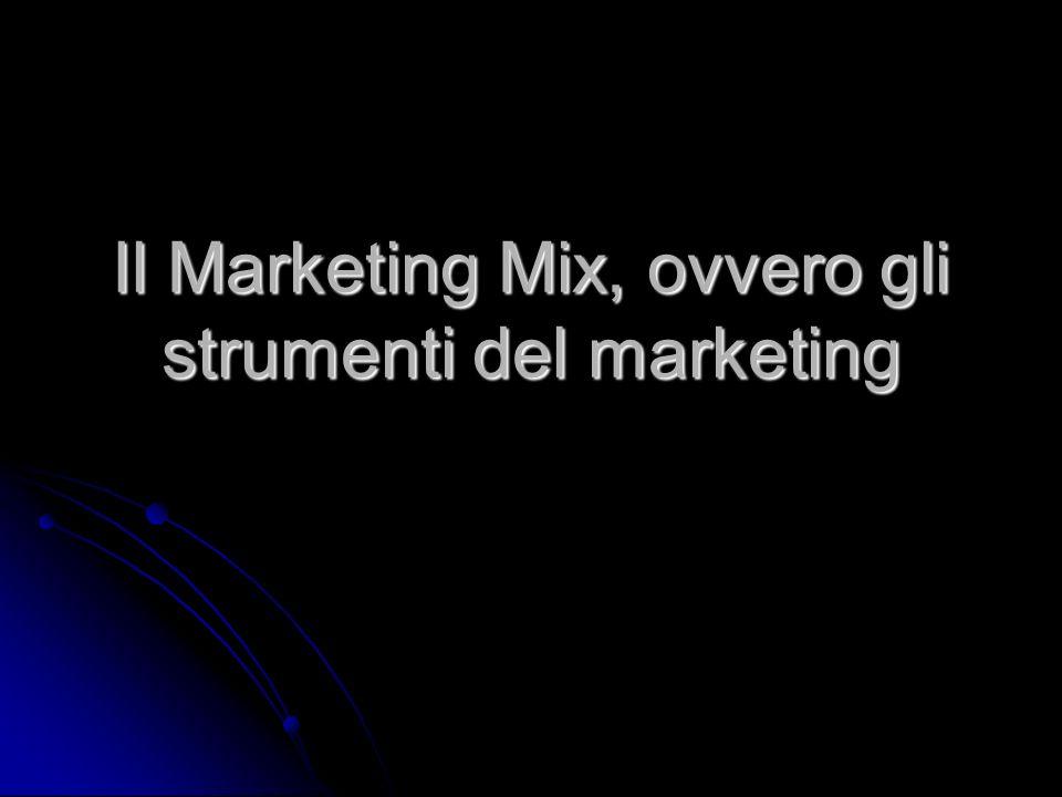 Il Marketing Mix, ovvero gli strumenti del marketing