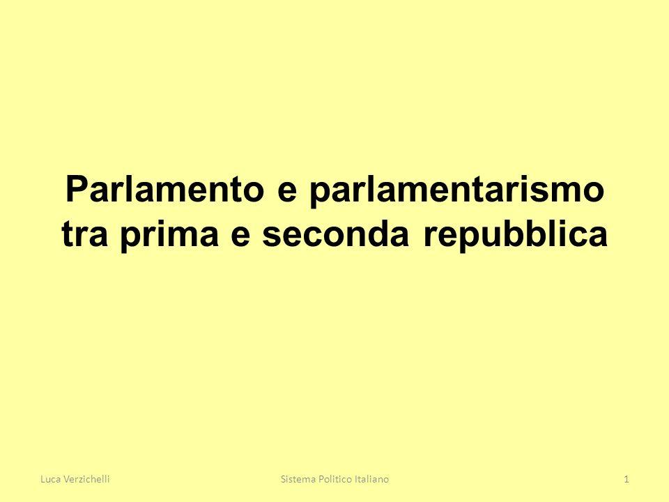 2 Descrivere approfonditamente il parlamentarismo italiano contemporaneo.