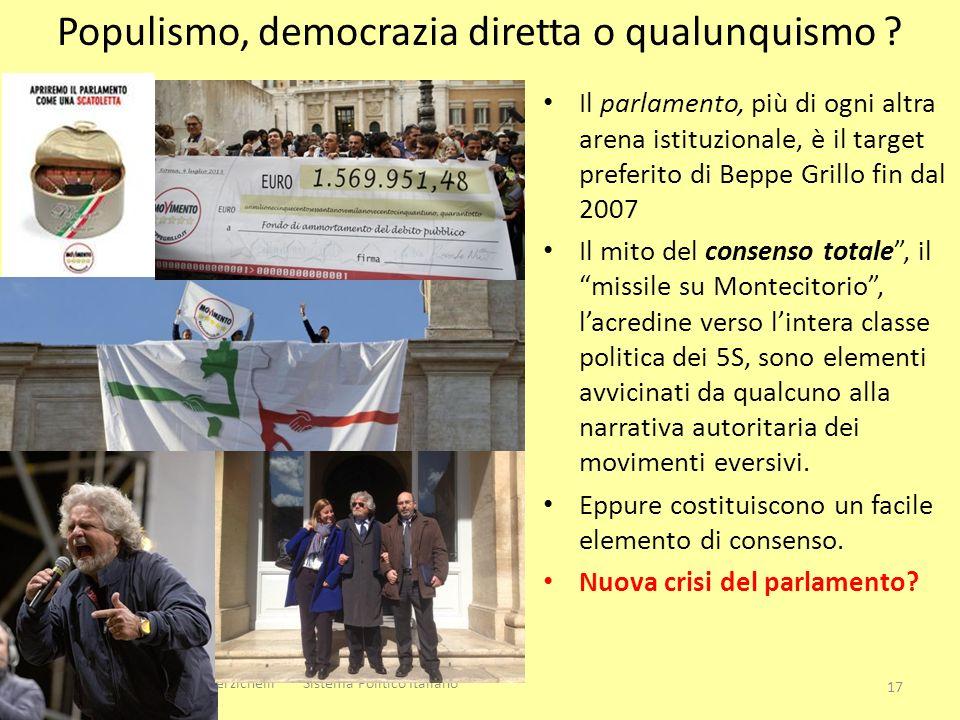 Il parlamento, più di ogni altra arena istituzionale, è il target preferito di Beppe Grillo fin dal 2007 Il mito del consenso totale, il missile su Mo