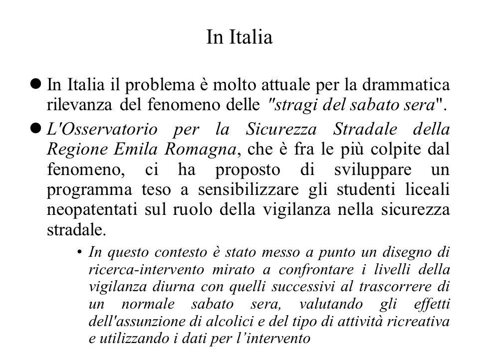 In Italia lIn Italia il problema è molto attuale per la drammatica rilevanza del fenomeno delle