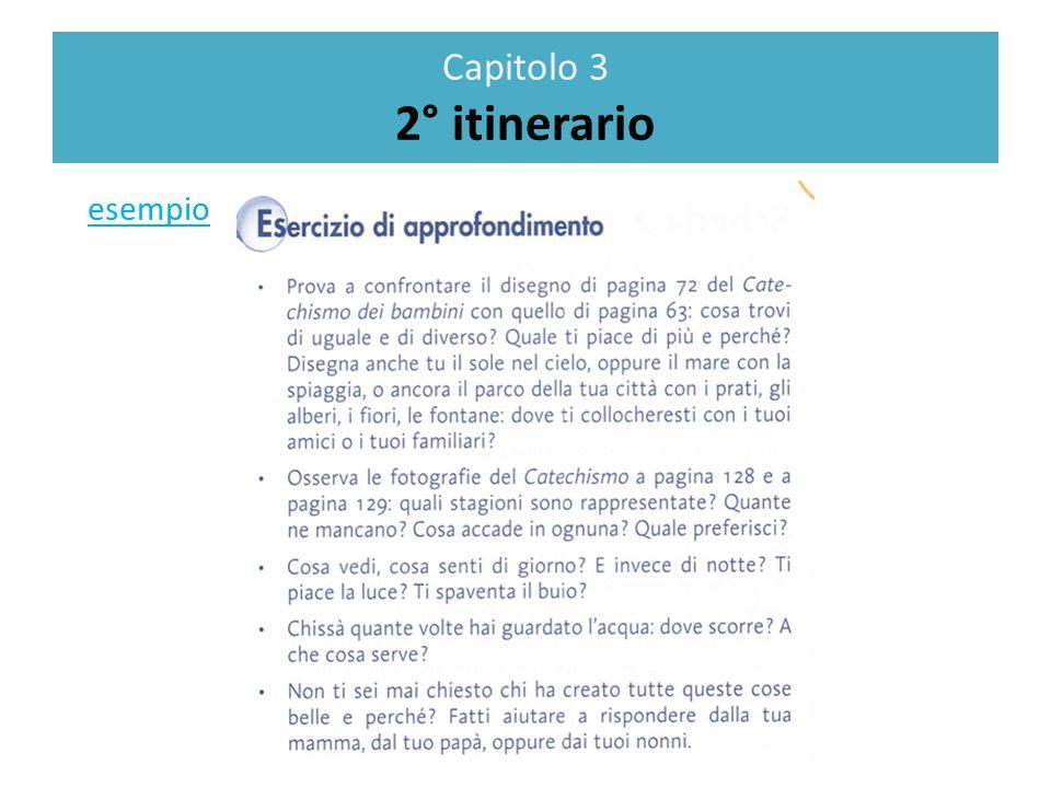 Capitolo 3 2° itinerario esempio