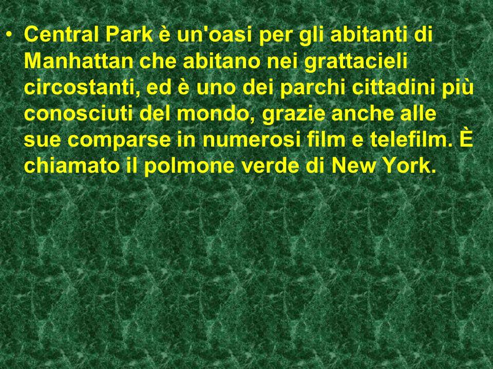 Central Park è il più grande parco (3,4 km², un rettangolo di 4 km × 800 m) nel distretto di Manhattan, a New York.