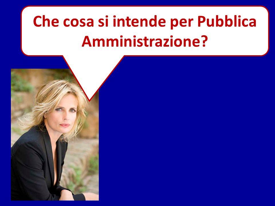 Che cosa si intende per Pubblica Amministrazione?