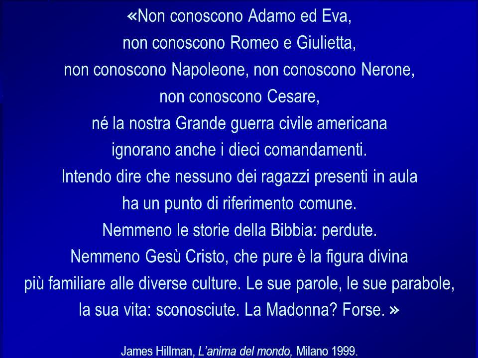 Stefano Quaglia, Licealità Classica, Verona 12 ottobre 2005 « Non conoscono Adamo ed Eva, non conoscono Romeo e Giulietta, non conoscono Napoleone, no