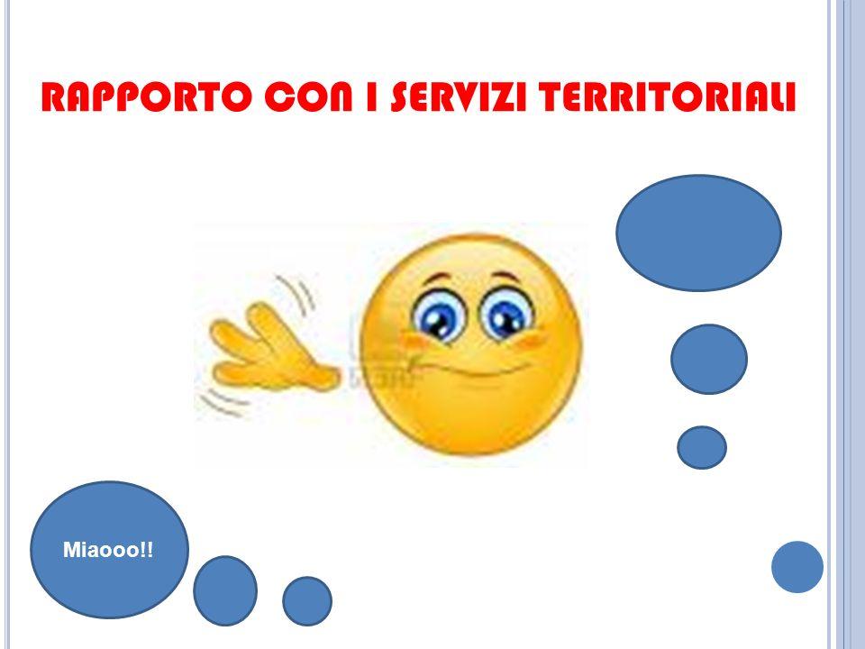 RAPPORTO CON I SERVIZI TERRITORIALI Miaooo!!