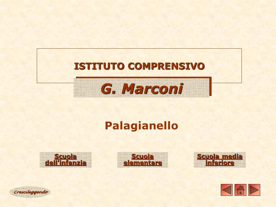 ISTITUTO COMPRENSIVO G. Marconi Palagianello Crescileggendo Scuola dellinfanzia Scuola dellinfanzia Scuola elementare Scuola elementare Scuola media i