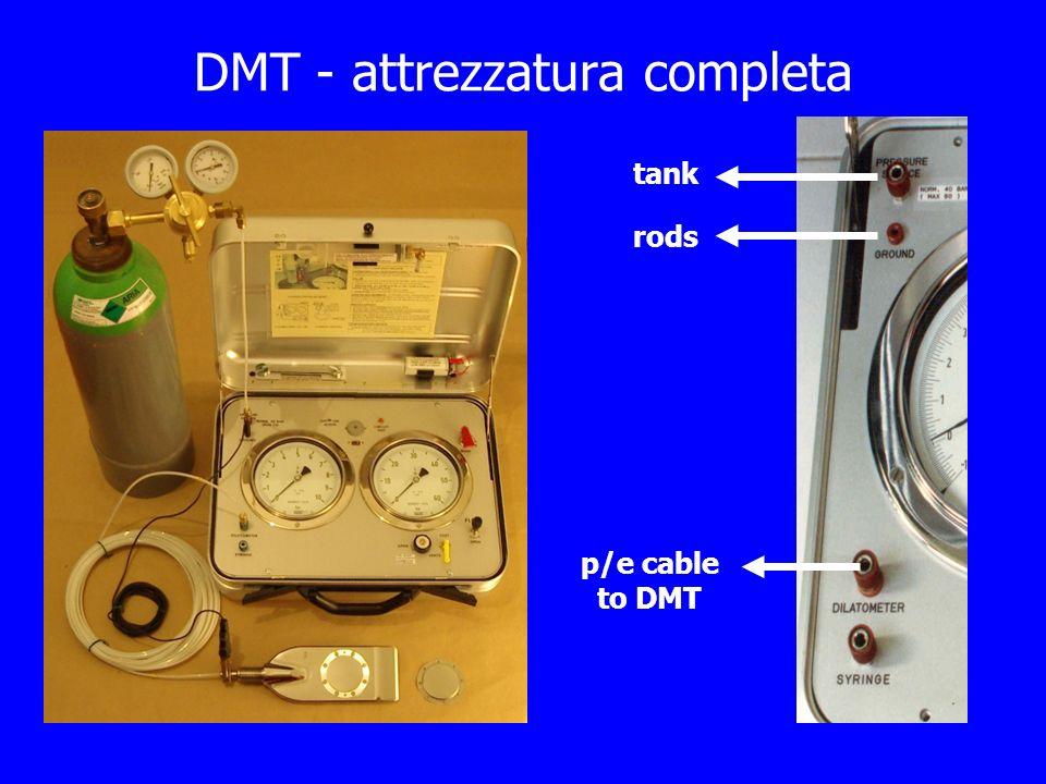 DMT - attrezzatura completa tank rods p/e cable to DMT