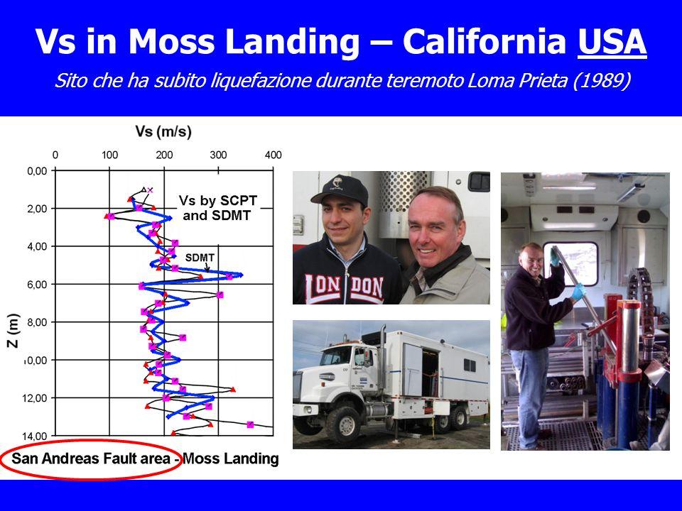 Sito che ha subito liquefazione durante teremoto Loma Prieta (1989) Feb 2008 Vs in Moss Landing – California USA