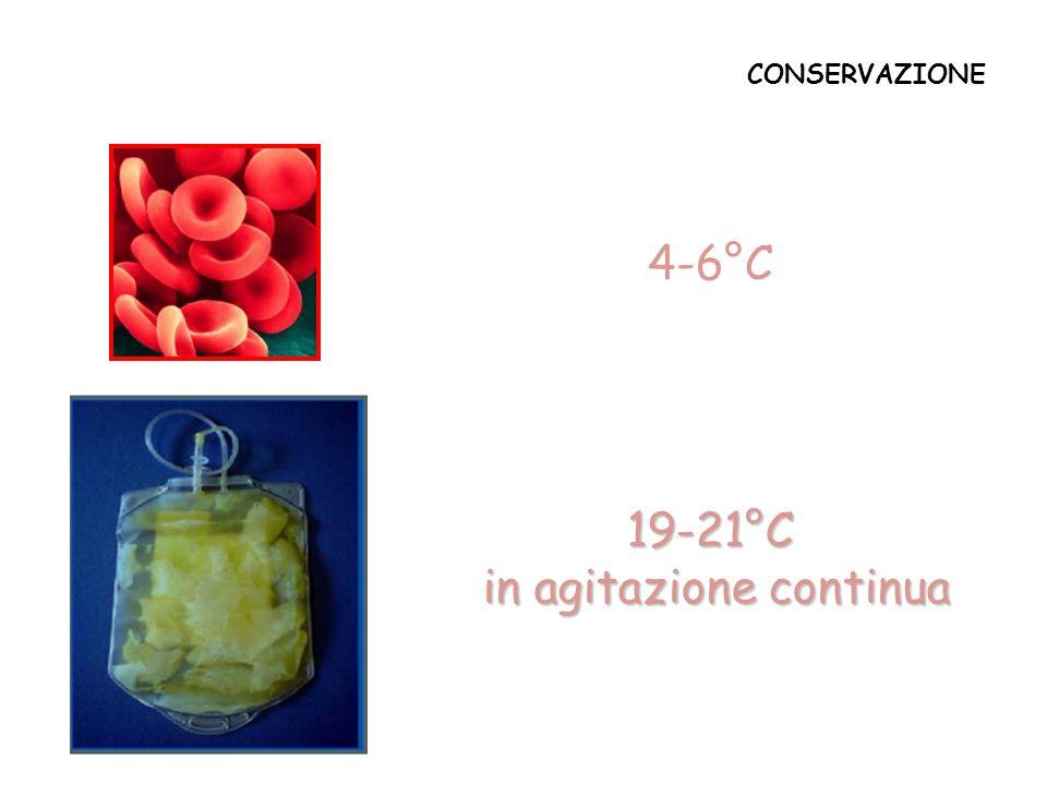 CONSERVAZIONE 4-6°C 19-21°C in agitazione continua