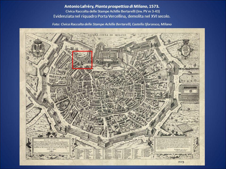 Antonio Lafréry, Pianta prospettica di Milano, 1573.