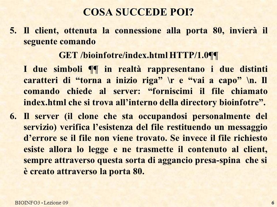 BIOINFO3 - Lezione 096 COSA SUCCEDE POI.