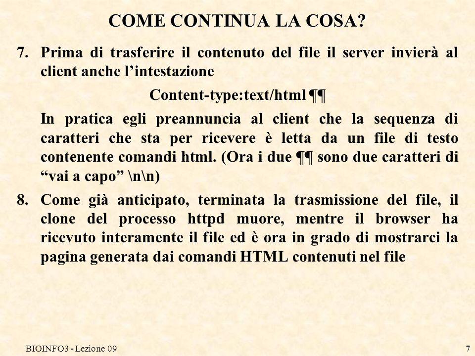 BIOINFO3 - Lezione 097 COME CONTINUA LA COSA.