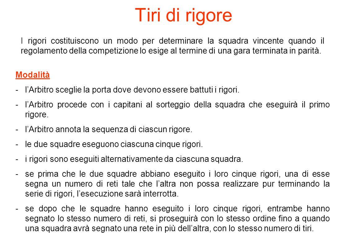 Regola 14 DOVE, COME E PERCHE Linea immaginaria m. 6,00 5 metri Linea MAX PORTIERE 10 metri