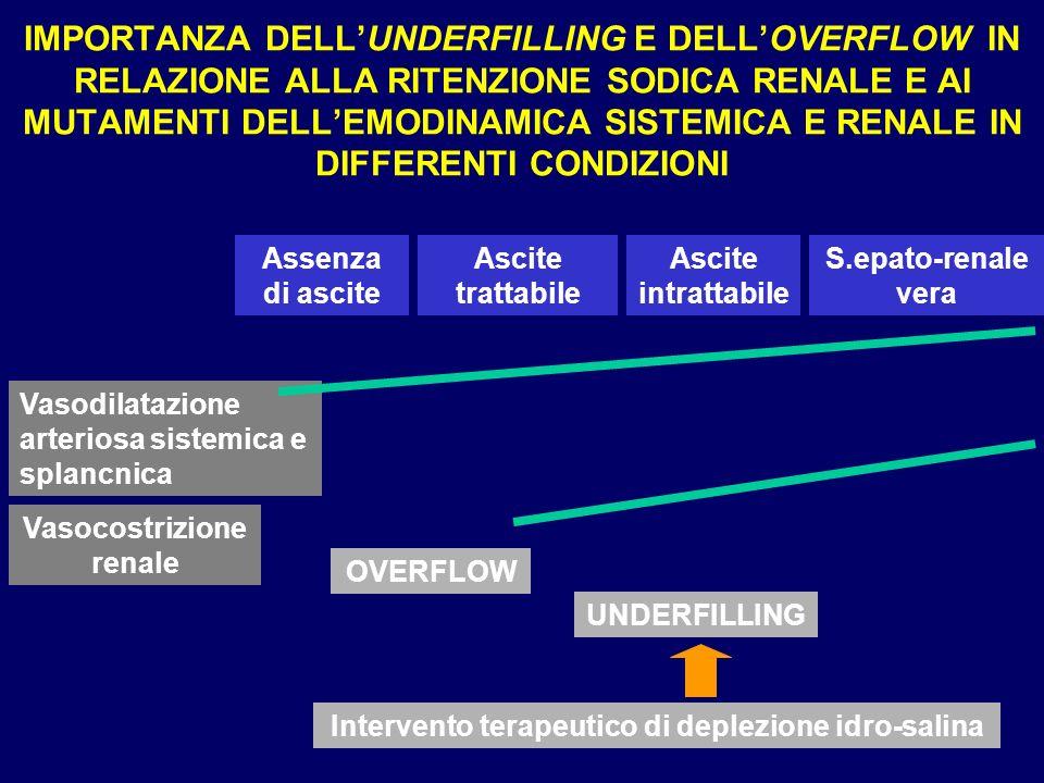 IMPORTANZA DELLUNDERFILLING E DELLOVERFLOW IN RELAZIONE ALLA RITENZIONE SODICA RENALE E AI MUTAMENTI DELLEMODINAMICA SISTEMICA E RENALE IN DIFFERENTI