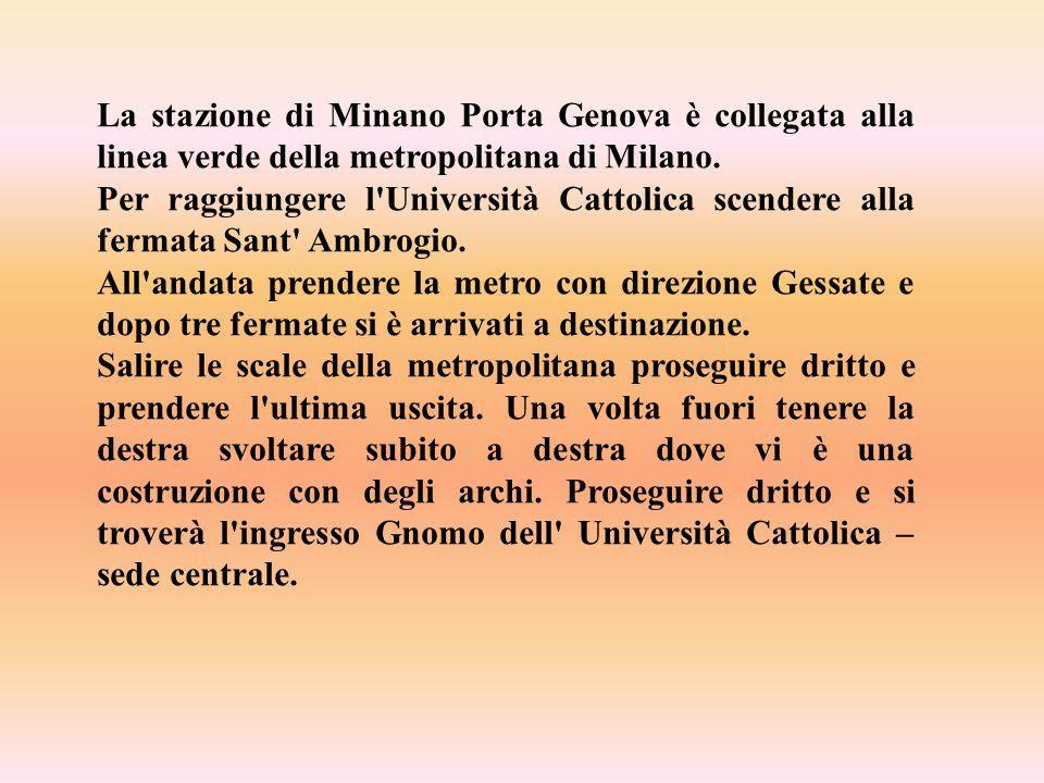 La stazione di Minano Porta Genova è collegata alla linea verde della metropolitana di Milano.