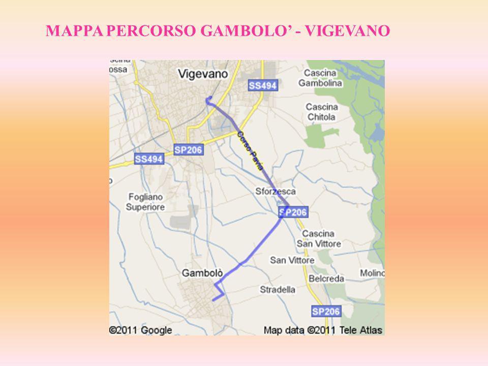 MAPPA PERCORSO GAMBOLO - VIGEVANO