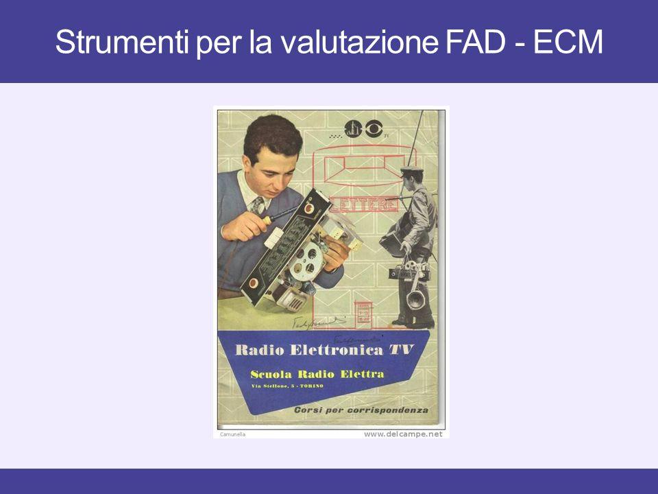 Strumenti per la valutazione FAD - ECM