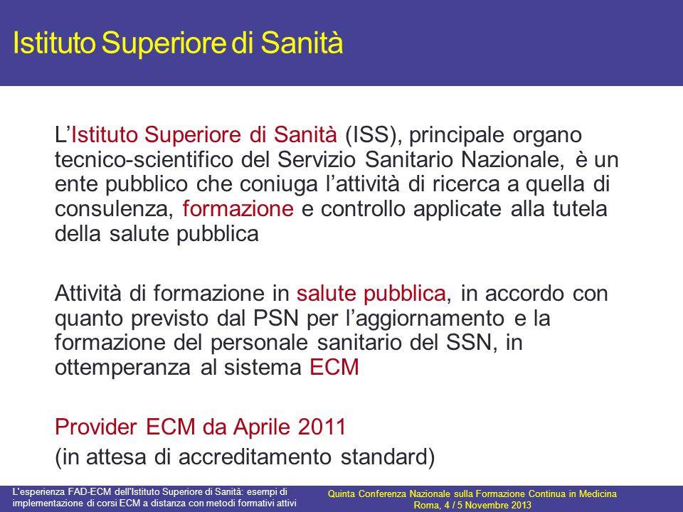 Istituto Superiore di Sanità LIstituto Superiore di Sanità (ISS), principale organo tecnico-scientifico del Servizio Sanitario Nazionale, è un ente pu