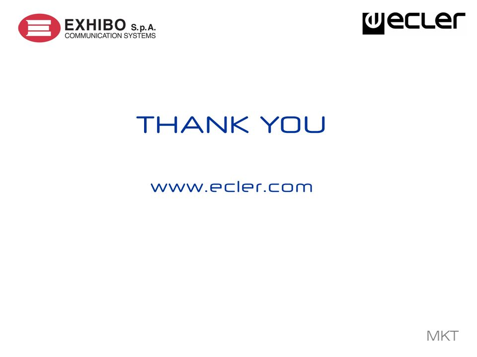 MKT THANK YOU www.ecler.com