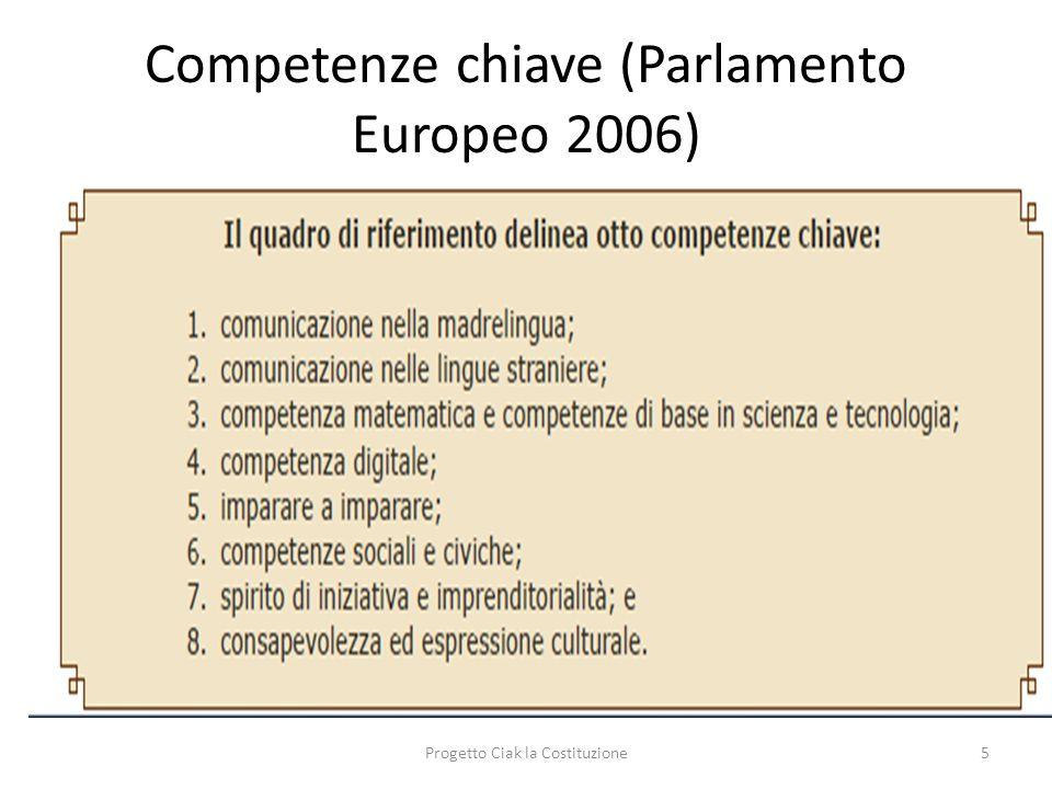 Competenze chiave (Parlamento Europeo 2006) Progetto Ciak la Costituzione5