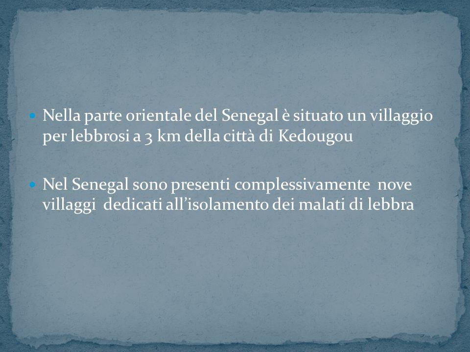 Nella parte orientale del Senegal è situato un villaggio per lebbrosi a 3 km della città di Kedougou Nel Senegal sono presenti complessivamente nove villaggi dedicati allisolamento dei malati di lebbra