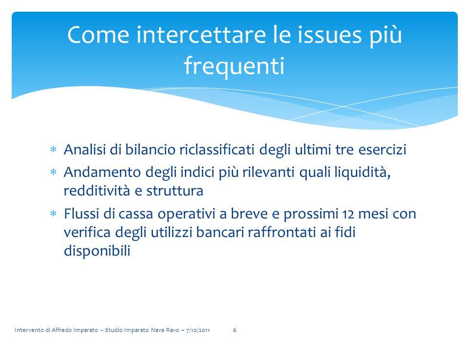 Analisi di bilancio riclassificati degli ultimi tre esercizi Andamento degli indici più rilevanti quali liquidità, redditività e struttura Flussi di c