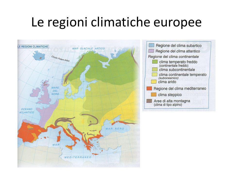 Le regioni climatiche europee