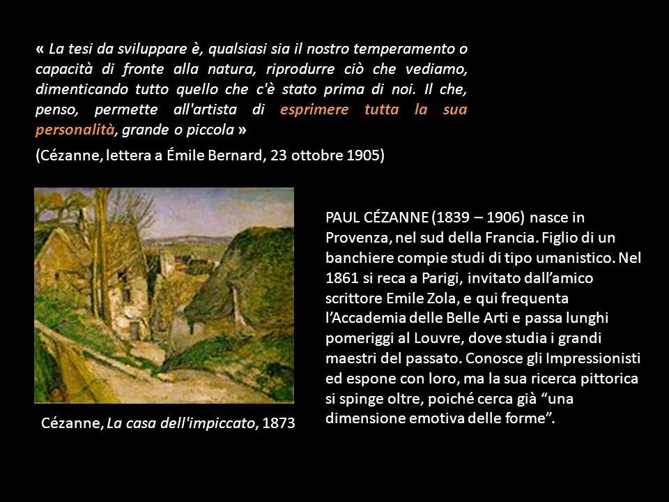 PAUL CÉZANNE (1839 – 1906) nasce in Provenza, nel sud della Francia.