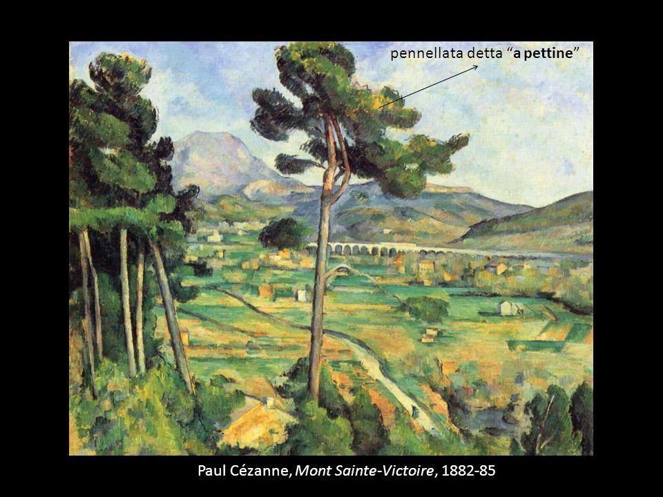 Paul Cézanne, Mont Sainte-Victoire, 1882-85 pennellata detta a pettine