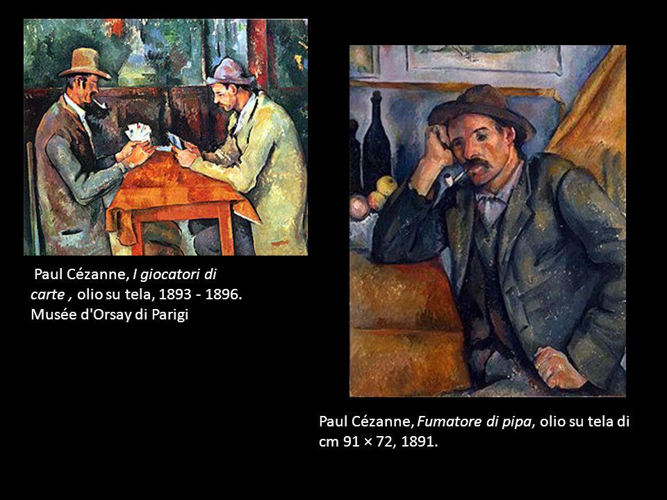 Paul Cézanne, I giocatori di carte, olio su tela, 1893 - 1896.