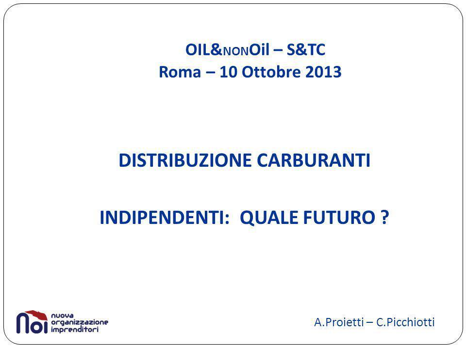 OIL& NON Oil – S&TC Roma – 10 Ottobre 2013 DISTRIBUZIONE CARBURANTI INDIPENDENTI: QUALE FUTURO .