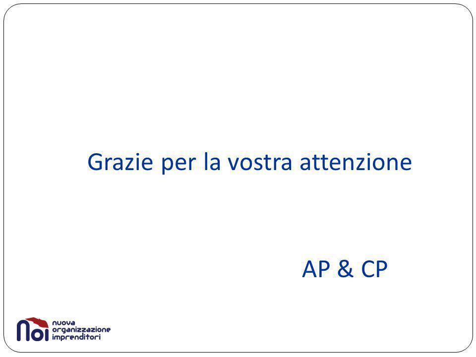 Grazie per la vostra attenzione AP & CP