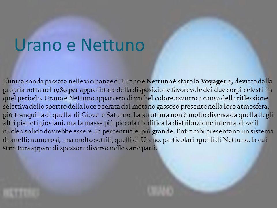 Urano e Nettuno Lunica sonda passata nelle vicinanze di Urano e Nettuno è stato la Voyager 2, deviata dalla propria rotta nel 1989 per approfittare de