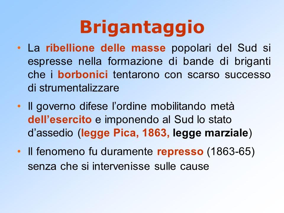 La questione romana Scomunica (1860) dei responsabili dellusurpazione dei territori pontifici.