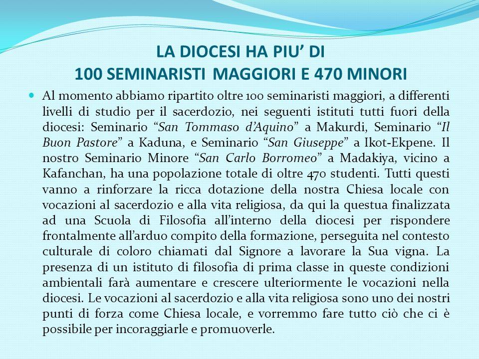 NOTIZIE SULLA DIOCESI DI KAFANCHAN FORMALMENTE COSTITUITA NELLOTTOBRE 1995 ESTESA SU UN TERRITORIO DI 11,000 KMQ.