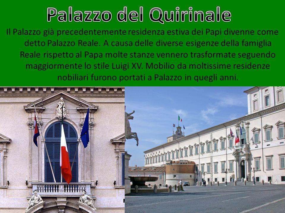 Il Palazzo già precedentemente residenza estiva dei Papi divenne come detto Palazzo Reale. A causa delle diverse esigenze della famiglia Reale rispett