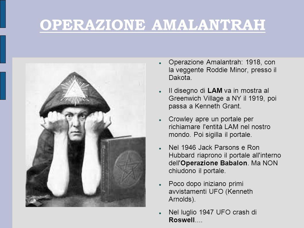 OPERAZIONE AMALANTRAH Operazione Amalantrah: 1918, con la veggente Roddie Minor, presso il Dakota. Il disegno di LAM va in mostra al Greenwich Village