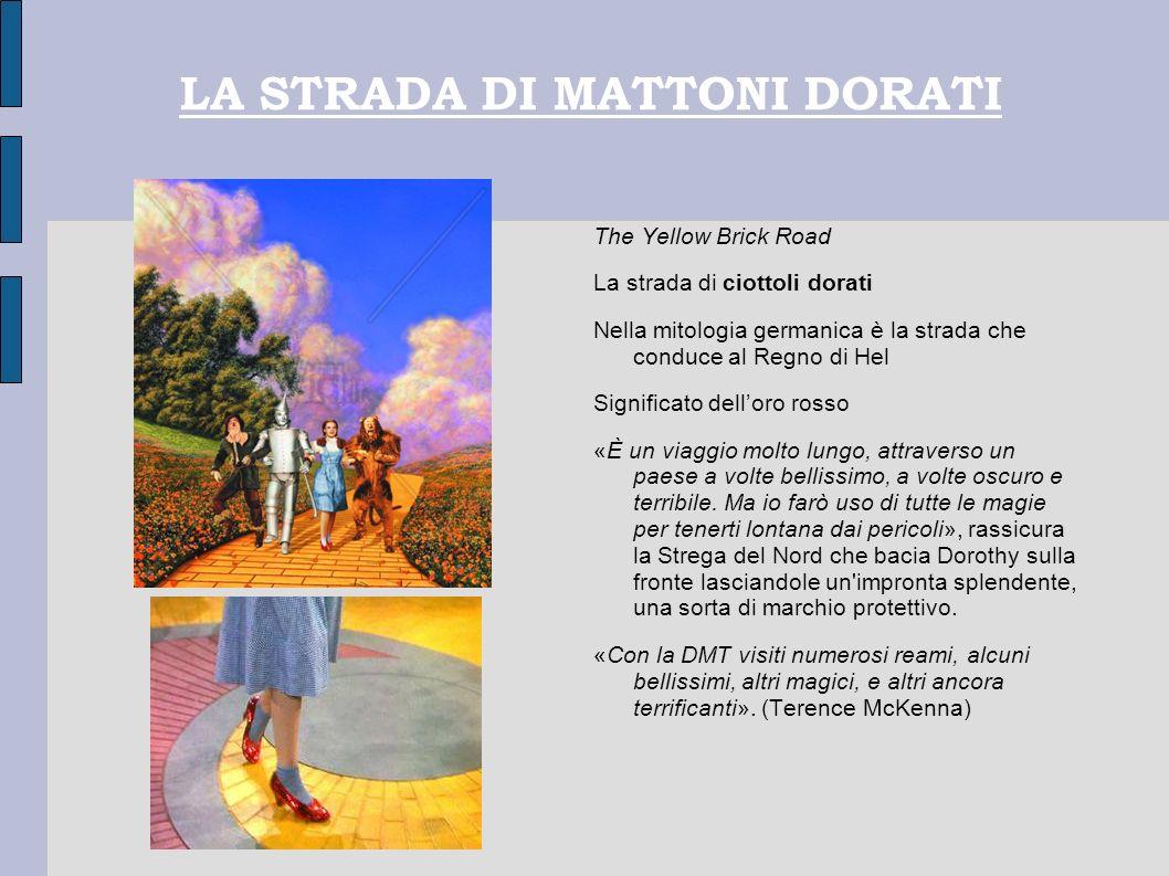 LA STRADA DI MATTONI DORATI The Yellow Brick Road La strada di ciottoli dorati Nella mitologia germanica è la strada che conduce al Regno di Hel Signi