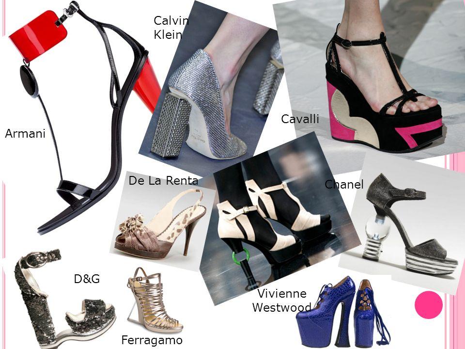 Armani Calvin Klein Cavalli Chanel De La Renta D&G Ferragamo Vivienne Westwood
