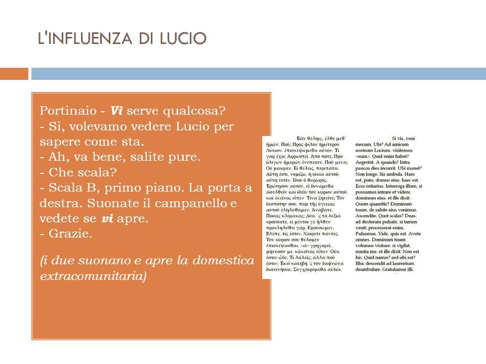 L INFLUENZA DI LUCIO (i due suonano e apre la domestica extracomunitaria) - Buongiorno.