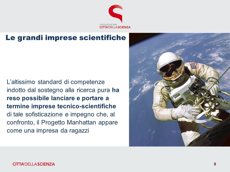 Laltissimo standard di competenze indotto dal sostegno alla ricerca pura ha reso possibile lanciare e portare a termine imprese tecnico-scientifiche d
