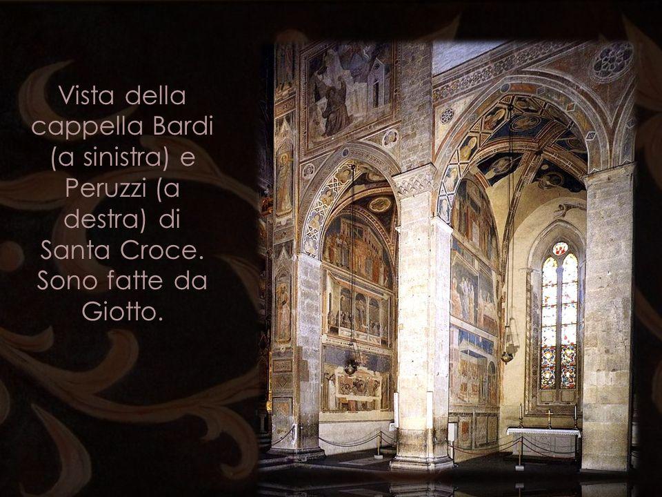Vista della cappella Bardi (a sinistra) e Peruzzi (a destra) di Santa Croce. Sono fatte da Giotto.