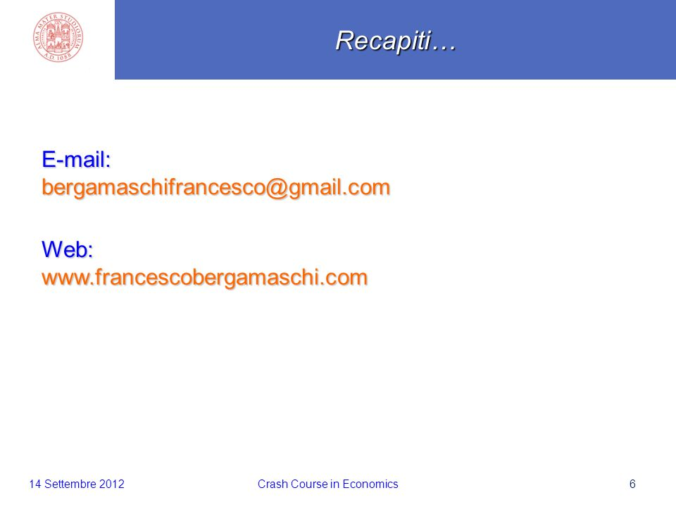6 E-mail:bergamaschifrancesco@gmail.comWeb:www.francescobergamaschi.comRecapiti…