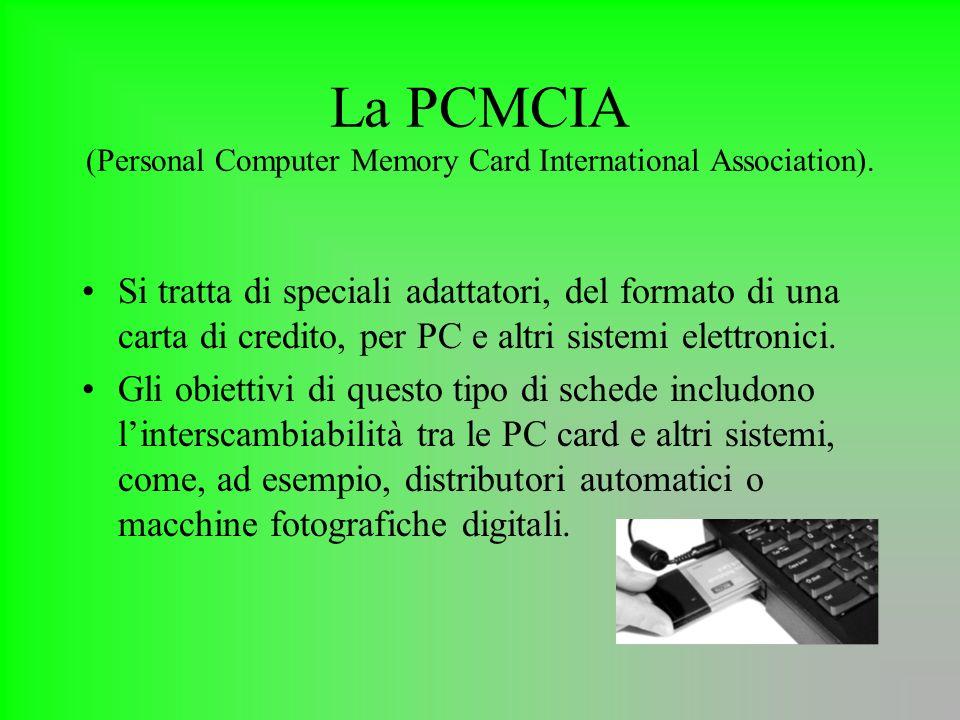 La PCMCIA (Personal Computer Memory Card International Association).
