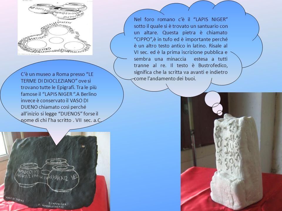 Cè un museo a Roma presso LE TERME DI DIOCLEZIANO ove si trovano tutte le Epigrafi. Tra le più famose il LAPIS NIGER.A Berlino invece è conservato il