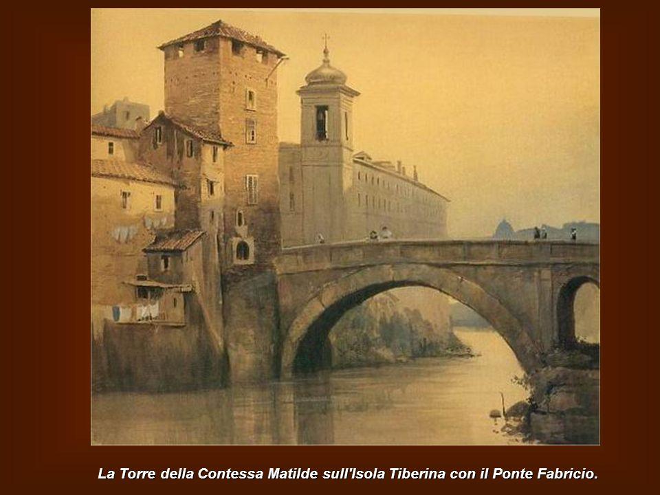 Scorcio delle Terme di Caracalla con la cupola di S.Pietro sullo sfondo.