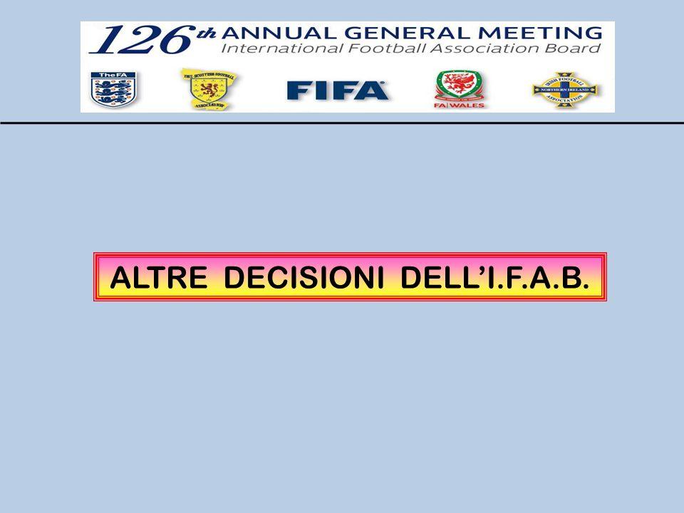 ALTRE DECISIONI DELLI.F.A.B.