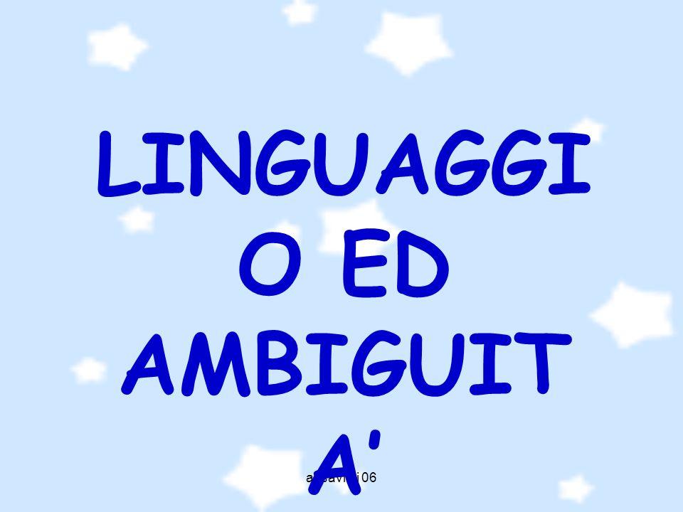 a. savioli 06 Linguaggio significa espressione di volontà, di intelligenza, di sensibilità.